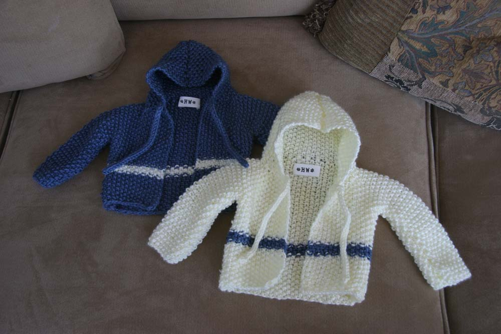 Crochet Baby Boy Hooded Sweater Pattern : Hooded Baby Cardigan - Holly West