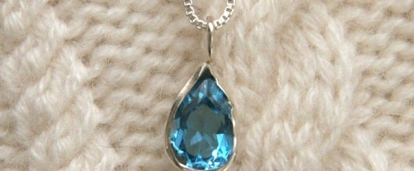 London Topaz Pendant in Sterling Silver