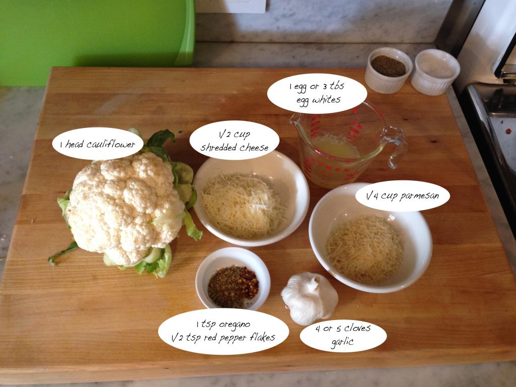 Cauliflower Crust Ingredients